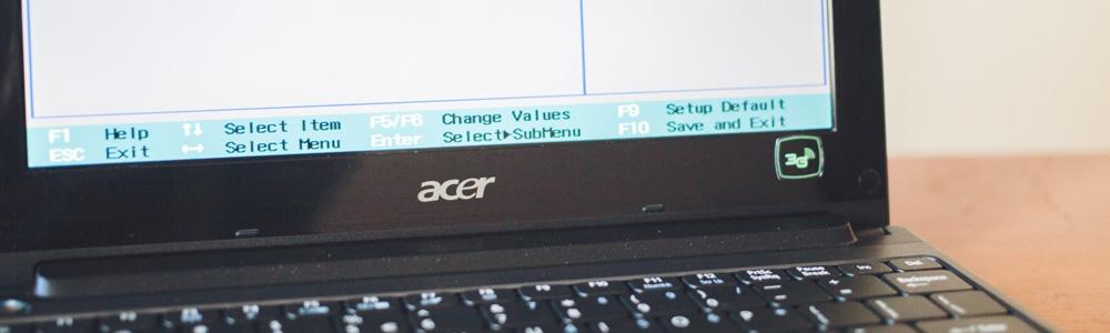Восстановление Acer